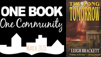"One Book One Community March 2020 with book cover, ""The Long Tomorrow"""