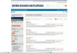 Oxford research encyclopedias database