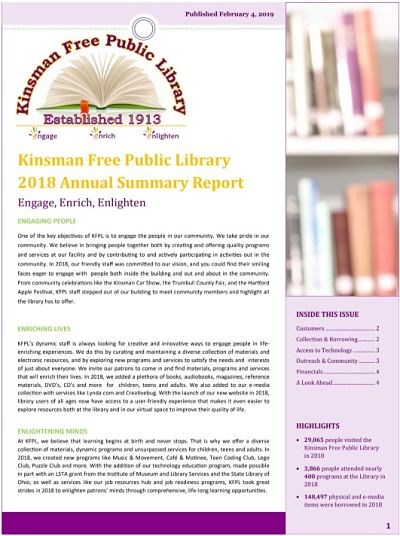 Picture of the front page of the KFPL 2018 Annual Report