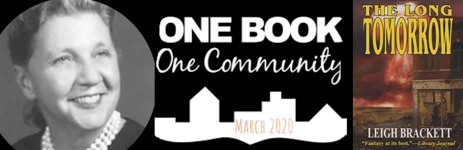 One Book One Community March 2020
