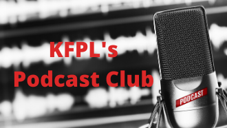 KFPL's Virtual Podcast Club with picture of a microphone