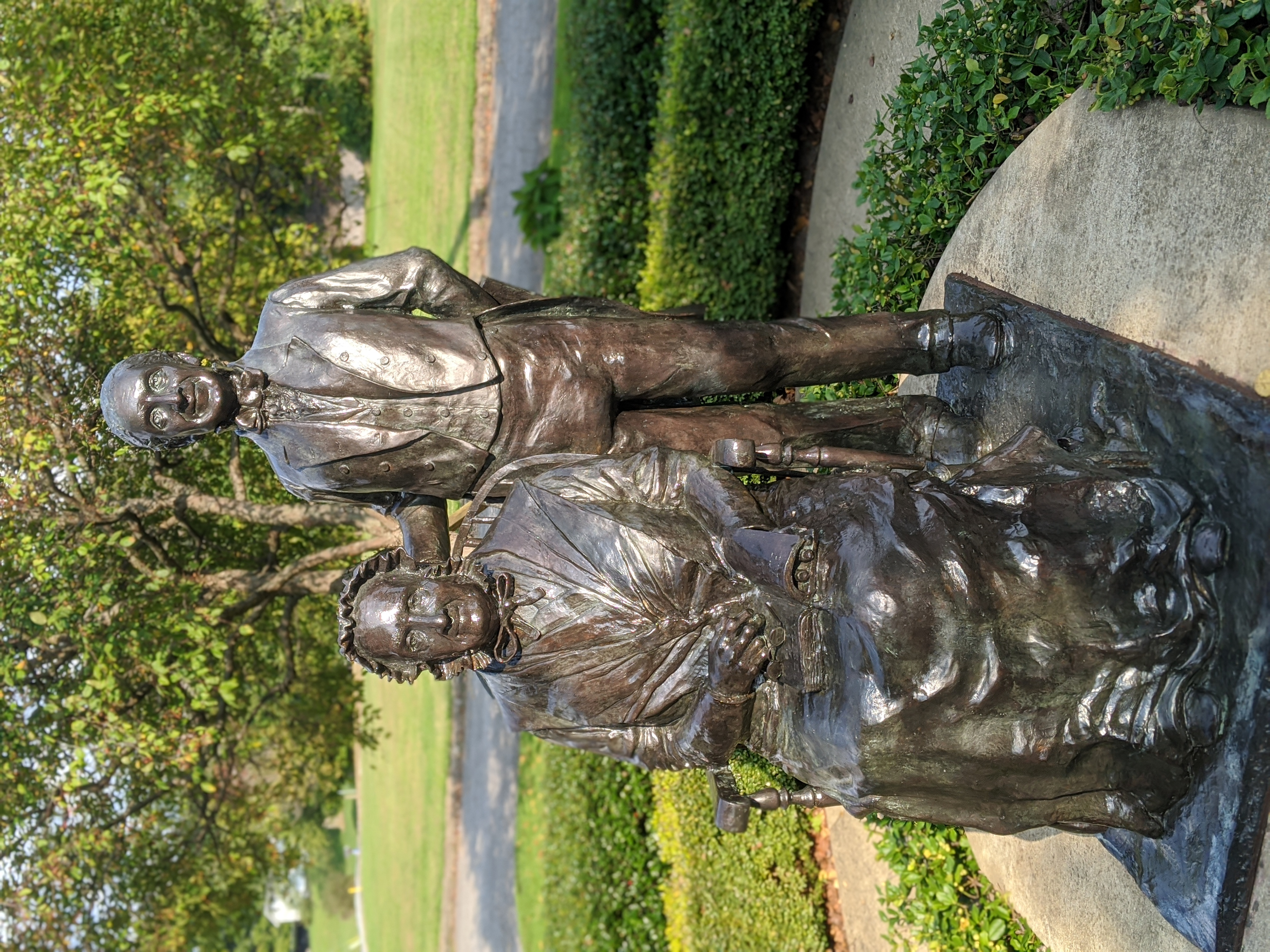 Bronze Statue of Rebecca Perkins Kinsman and her son John
