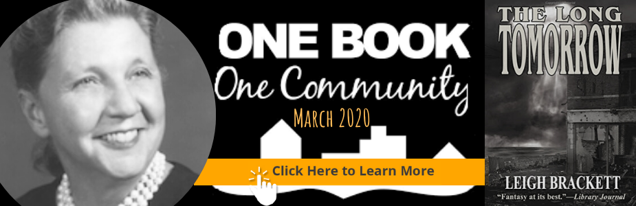 One Book One Community March 2020; Click to learn more